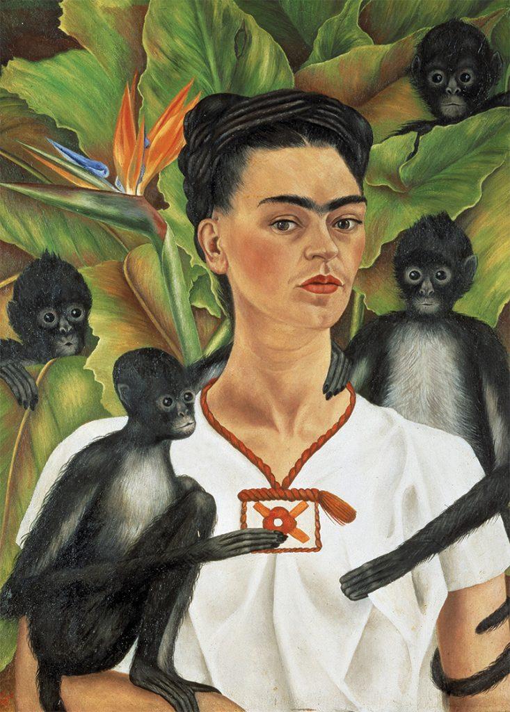 Autorretrato-Con-Monos-(1943)