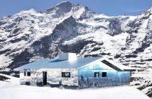 Doug Aitken'in reflektif enstalasyonu- 'Mirage Gstaad'