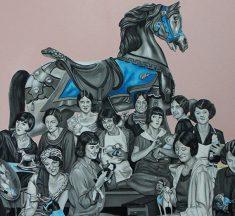 """Sayat Uşaklıgil'in """"Mutlu Kalabalıklar / Merry Crowds"""" Sergisi Galeri 77'de"""